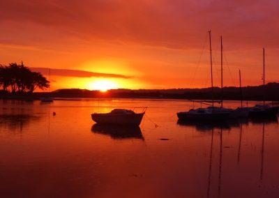 Poulafret, lever de soleil